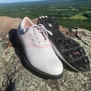 Adidas Z-Traxion Pink White Lace Up Golf Shoes SZ8